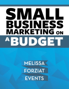 small business marketing on a budget ebook melissa forziat events
