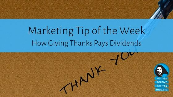 How Giving Thanks Pays Dividends