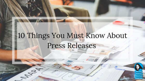 Matt LaClear shares 10 Things You Must Know About Press Releases