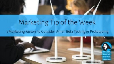 3 Marketing Factors to Consider When Beta Testing or Prototyping